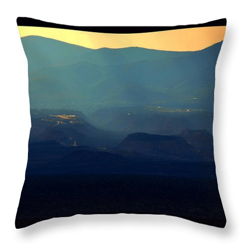 New Mexico Throw Pillow featuring the photograph Blue Desert by Susanne Still