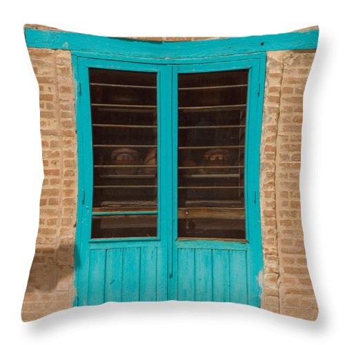 Blue Door Throw Pillow featuring the photograph Blue Door by Sean Wray