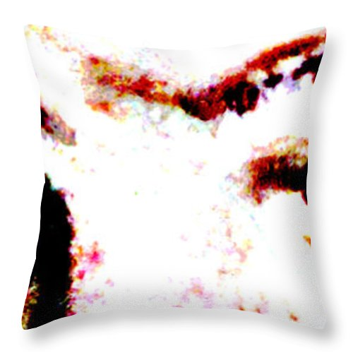 People Throw Pillow featuring the photograph Blue Eyes Natural by Susan Stevenson