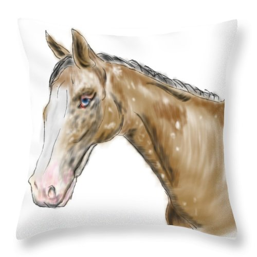 Horse Throw Pillow featuring the painting Blue Ice by Mark Moore
