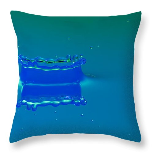 Impact Throw Pillow featuring the photograph Blue Lagoon by Nick Field