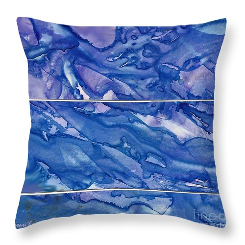 Abstract Throw Pillow featuring the painting Blue Mood by Joan Hartenstein