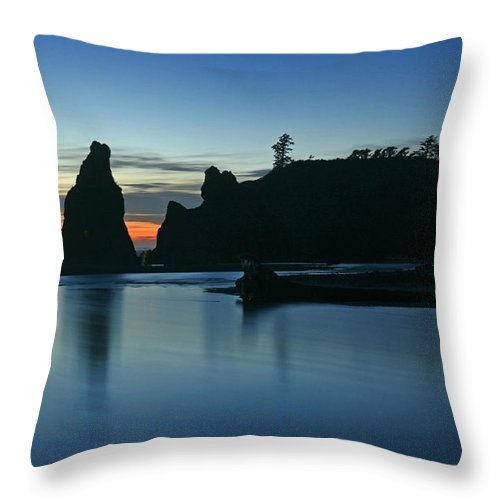 Seascape Throw Pillow featuring the photograph Blue On Blue by Winston Rockwell