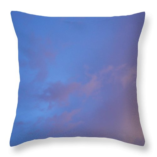 Blue Throw Pillow featuring the photograph Blue Pink Sky by Alexandra Masson