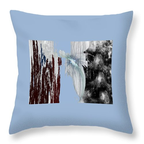 Abstract Throw Pillow featuring the digital art Blue Sky by Maciek Froncisz