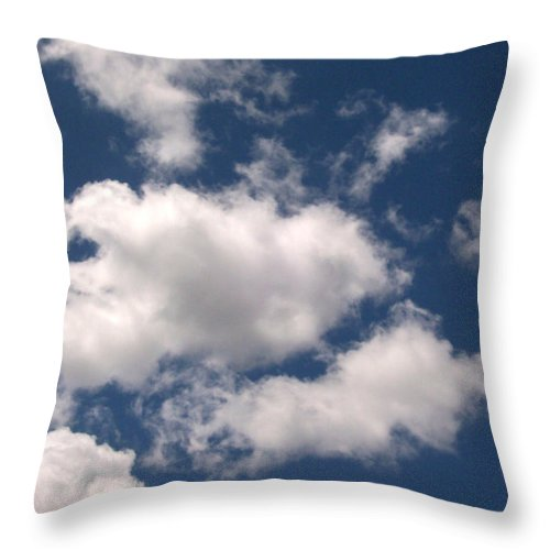 Cloud Throw Pillow featuring the photograph Blue Sky With Clouds by Corinne Elizabeth Cowherd