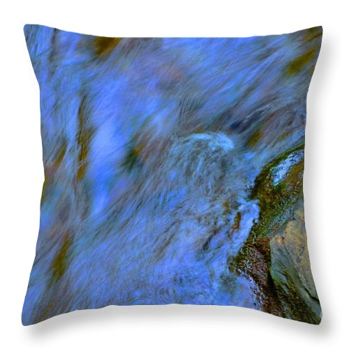 #letchworth #state #park Throw Pillow featuring the photograph Blue Waters by Kathleen Struckle