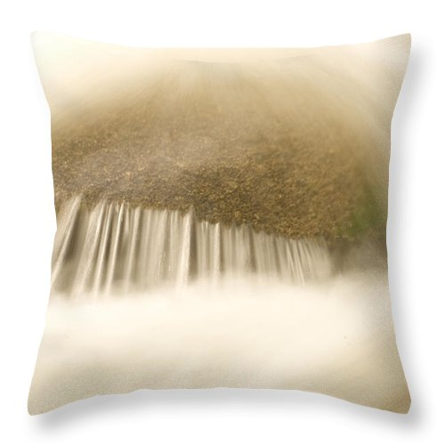 Nobody Throw Pillow featuring the photograph Blurred Motion Photo Of Water Rushing by Phil Schermeister