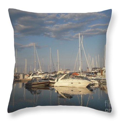 Harbor Throw Pillow featuring the photograph Harbor Cams by Vesna Antic