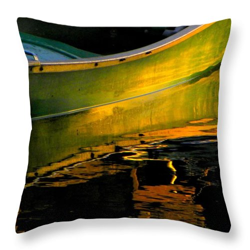 Reflections Throw Pillow featuring the photograph Boat In The Water by Henry Murray