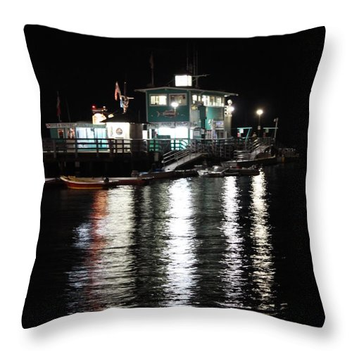 Boathouse Throw Pillow featuring the photograph Boathouse by Caroline Lomeli