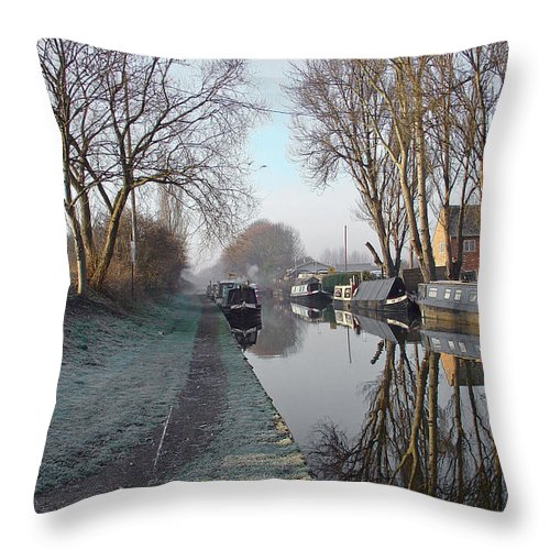 Europe Throw Pillow featuring the photograph Boats And Trees by Rod Johnson