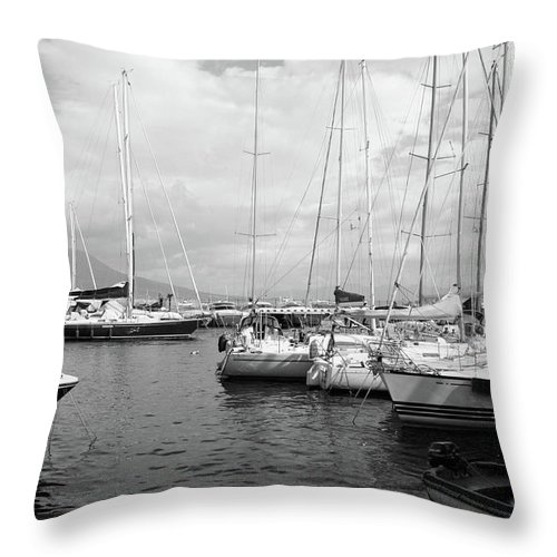 Boats Throw Pillow featuring the photograph Boats Meeting by La Dolce Vita