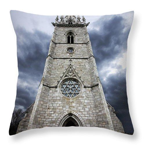 Church Throw Pillow featuring the photograph Bodelwyddan Church by Meirion Matthias