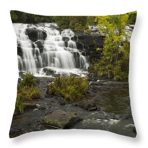 Bond Throw Pillow featuring the photograph Bond Falls 3 by John Brueske