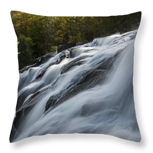 Bond Throw Pillow featuring the photograph Bond Falls 9 A by John Brueske