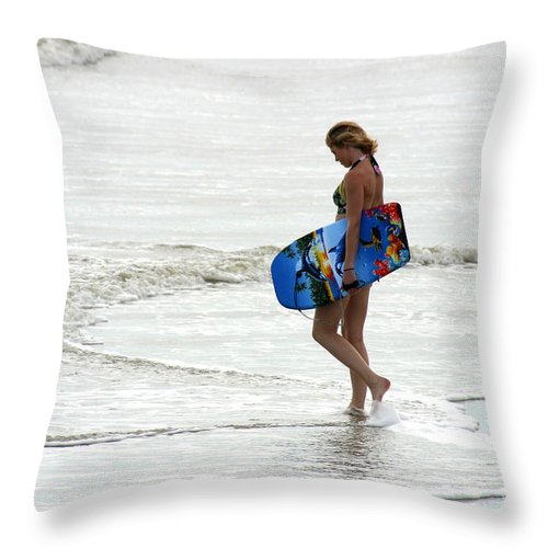 Gary Gingrich Throw Pillow featuring the photograph Boogie Board 0669b by Gary Gingrich Galleries