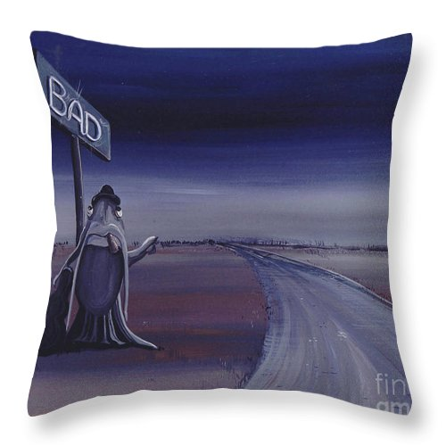 Blues Throw Pillow featuring the painting Born Under A Bad Sign by Lizi Beard-Ward