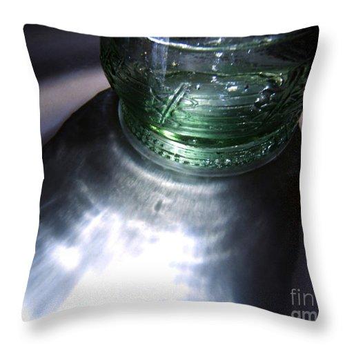 Artoffoxvox Throw Pillow featuring the photograph Bottle And Light Photograph by Kristen Fox