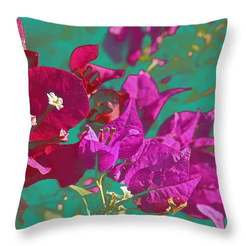 Bougainvillea Throw Pillow featuring the photograph Bougainvillea by Luciano Comba
