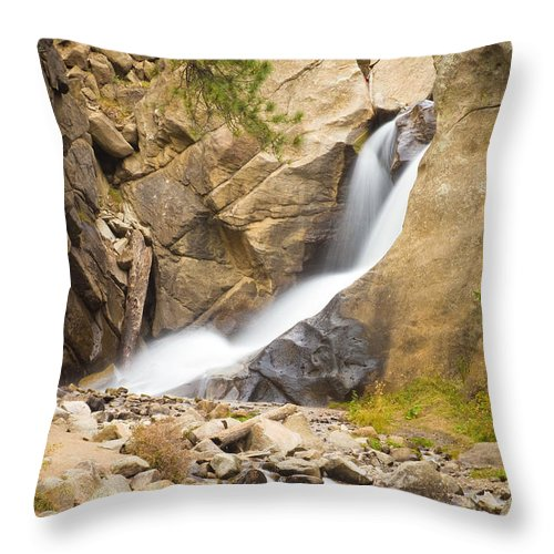 Boulder Throw Pillow featuring the photograph Boulder Colorado Boulder Falls by James BO Insogna