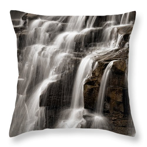 Water Throw Pillow featuring the photograph Brandywine Falls by Dale Kincaid