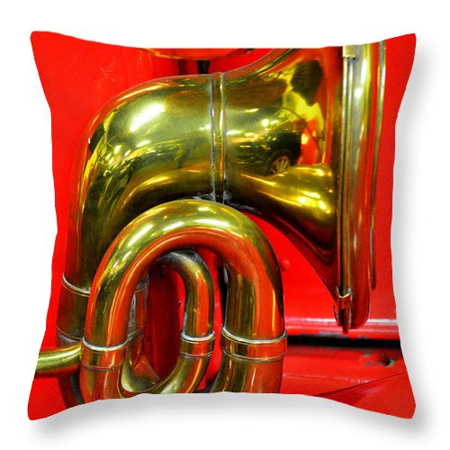 Vintage Automobiles Throw Pillow featuring the photograph Brass Band by Newel Hunter
