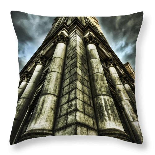 City Hall Throw Pillow featuring the photograph Break On Through by Evelina Kremsdorf