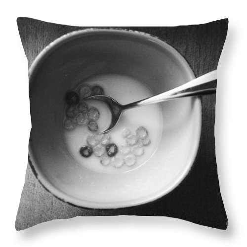 Cereal Throw Pillow featuring the mixed media Breakfast by Linda Woods