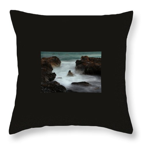 Oceans Throw Pillow featuring the photograph Breaking Tides by Rebecca Akporiaye