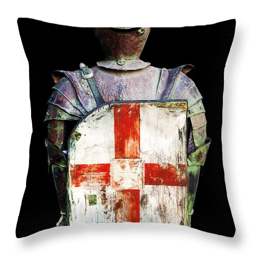 Black Background Throw Pillow featuring the photograph Breastplate by Fabrizio Troiani