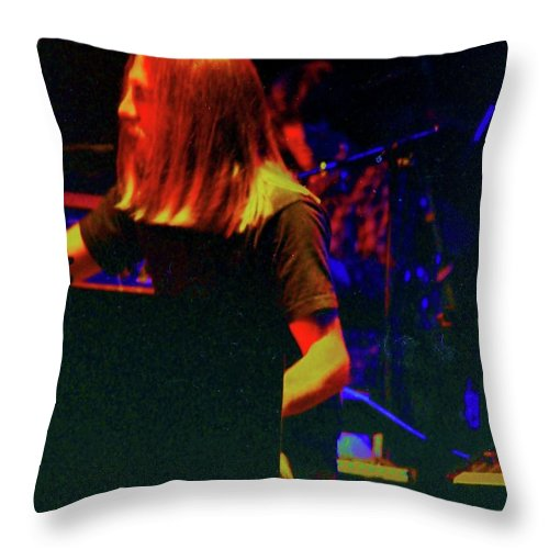 Brent Mydland Throw Pillow featuring the photograph Brent Mydland by Susan Carella