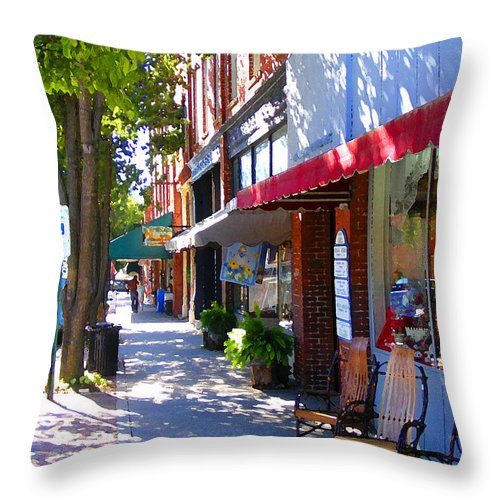 Brevard Throw Pillow featuring the photograph Brevard Downtown Filtered by Duane McCullough