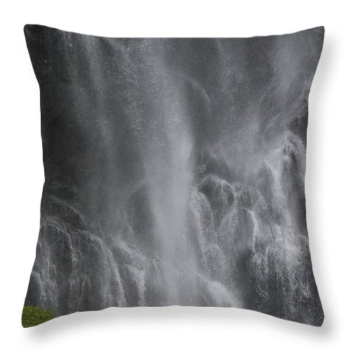 Nobody Throw Pillow featuring the photograph Bridal Veil Falls, Lowe River by Michael S. Quinton