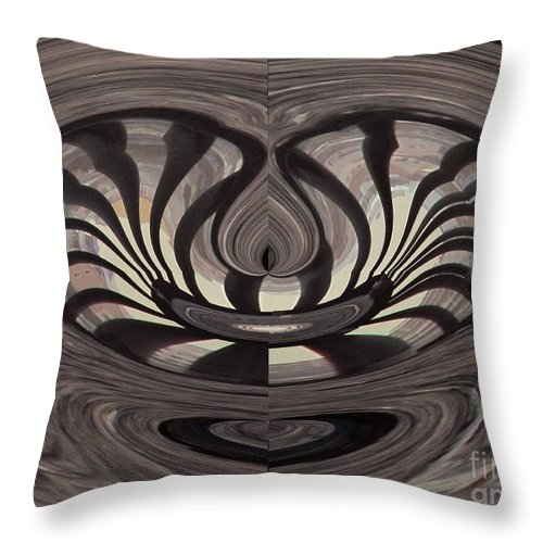 Abstract Throw Pillow featuring the photograph Bridge Abstract 03 by Rrrose Pix