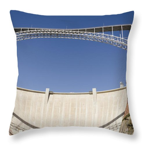Arizona Throw Pillow featuring the photograph Bridge Crossing Colorado River And Glen by Keith Levit