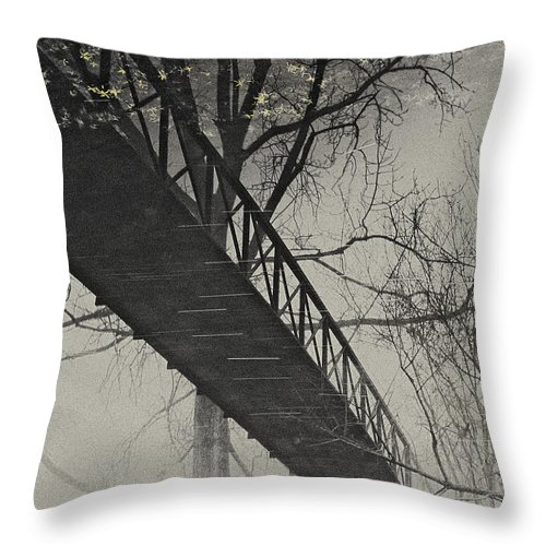 Landscape Throw Pillow featuring the photograph Bridge Reflection by Fran Gallogly
