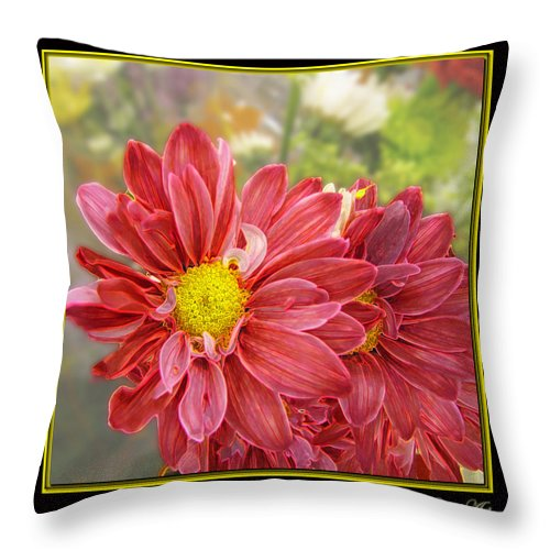 Nature Throw Pillow featuring the digital art Bright Edges by Debbie Portwood