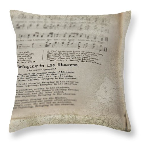 Hymn Throw Pillow featuring the photograph Bringing In The Sheaves by David Arment
