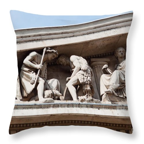 British Throw Pillow featuring the photograph British Museum by Andrew Michael