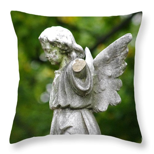 Cemetery Throw Pillow featuring the photograph Broken Angel by J M Lister