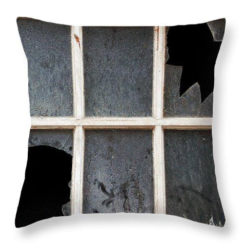 Broken Throw Pillow featuring the photograph Broken Window by RicardMN Photography