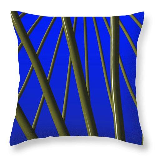 Ornamental Throw Pillow featuring the digital art Bronze Sunlight by Richard Rizzo