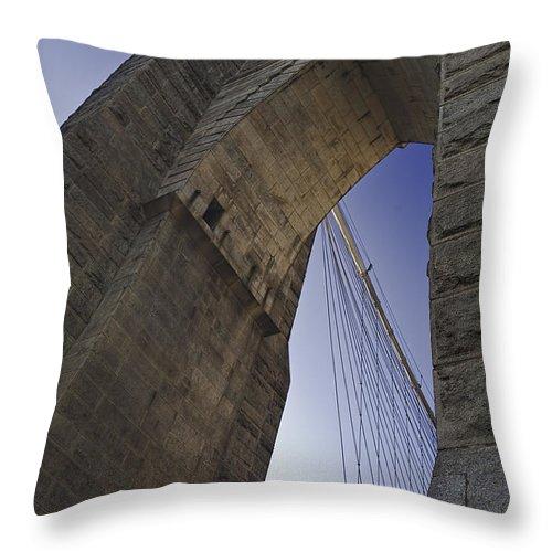 Brooklyn Bridge Throw Pillow featuring the photograph Brooklyn Bridge by Mark Harrington