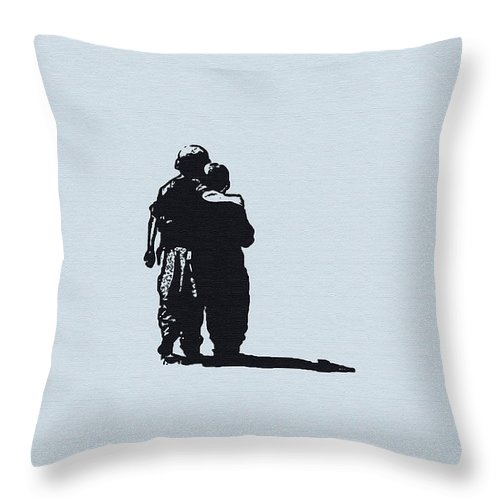 Brothers In Arms Throw Pillow featuring the photograph Brothers In Arms by Bill Cannon