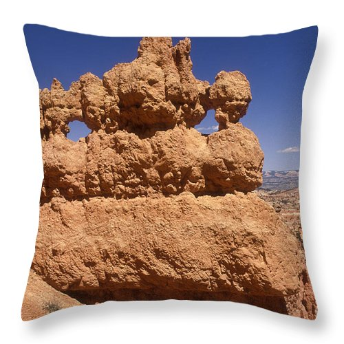 Bryce Canyon Throw Pillow featuring the photograph Bryce Canyon - Mask Formation by Sandra Bronstein