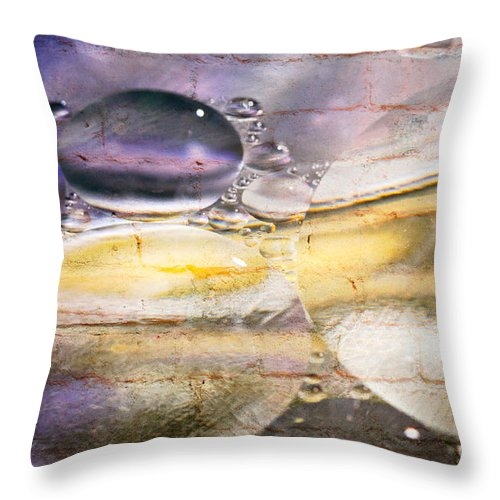 Abstract Throw Pillow featuring the photograph Bubble Fusion by Charles Dobbs