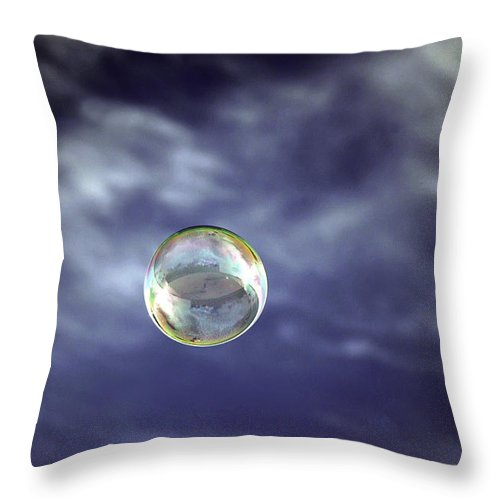 Hawaii Throw Pillow featuring the photograph Bubble Self Portrait by Dan McManus