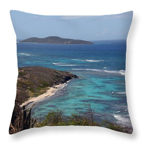 Virgin Islands Throw Pillow featuring the photograph Buck Island USVI by Kelly Holm