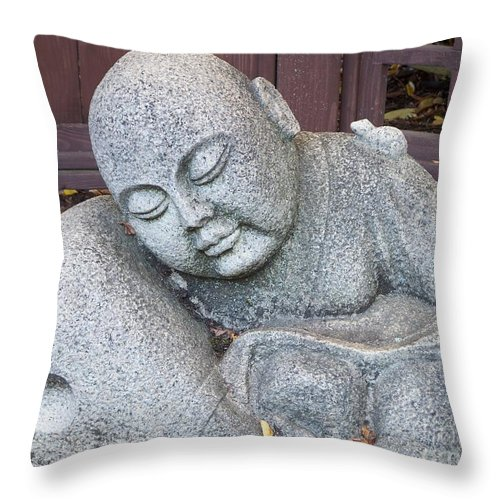 Buddha Throw Pillow featuring the photograph Buddha by Chalet Roome-Rigdon
